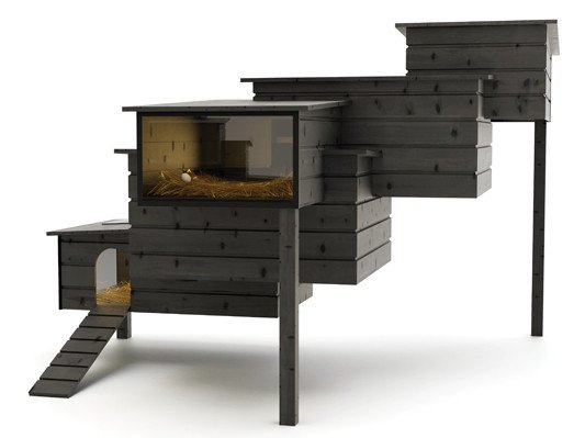 h hnerstall mit solarmodul solar news produkte. Black Bedroom Furniture Sets. Home Design Ideas