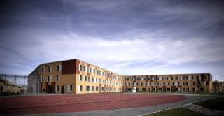 Das Hafthaus von der Hofseite aus