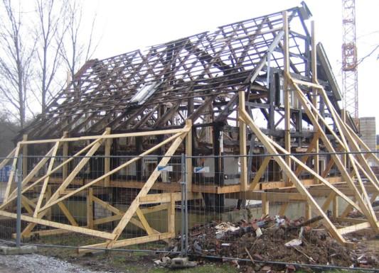Wohnanlage in m lheim an der ruhr schiefer wohnen mfh for Fachwerkhaus konstruktion