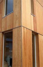 Fassadenplatten Holz großformatige fassadenplatten aus holz fassade produkte