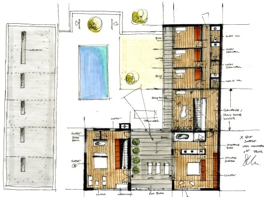 grundriss skizze obergeschoss - Architektur Wohnhaus Fuchs Und Wacker