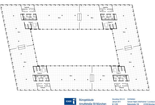 Bürogebäude haus 1 in münchen fassade büroverwaltung