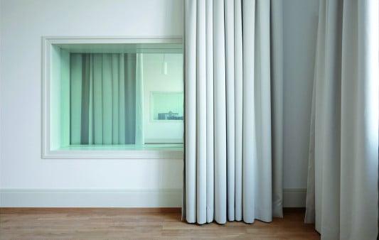 Akustik Vorhang Set : Schallabsorption durch vorhänge akustik