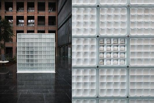 Modulares wandsystem aus glasbausteinen glas news - Wand aus glasbausteinen ...