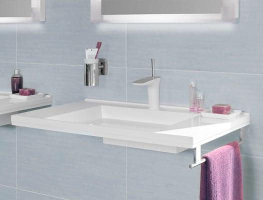 waschtisch mit integriertem siphon bad und sanit r. Black Bedroom Furniture Sets. Home Design Ideas