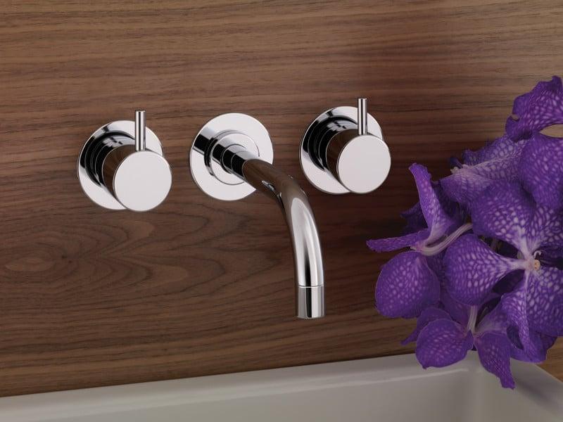 mischbatterie mit zwei griffen fr warmes und kaltes wasser 3 loch waschtischarmatur - Unterputz Armatur Dusche Wechseln