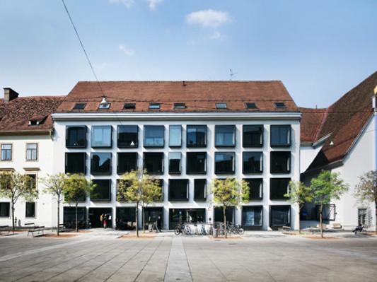 Fassade bürogebäude  Bürogebäude am Karmeliterplatz in Graz | Fassade | Büro/Verwaltung ...