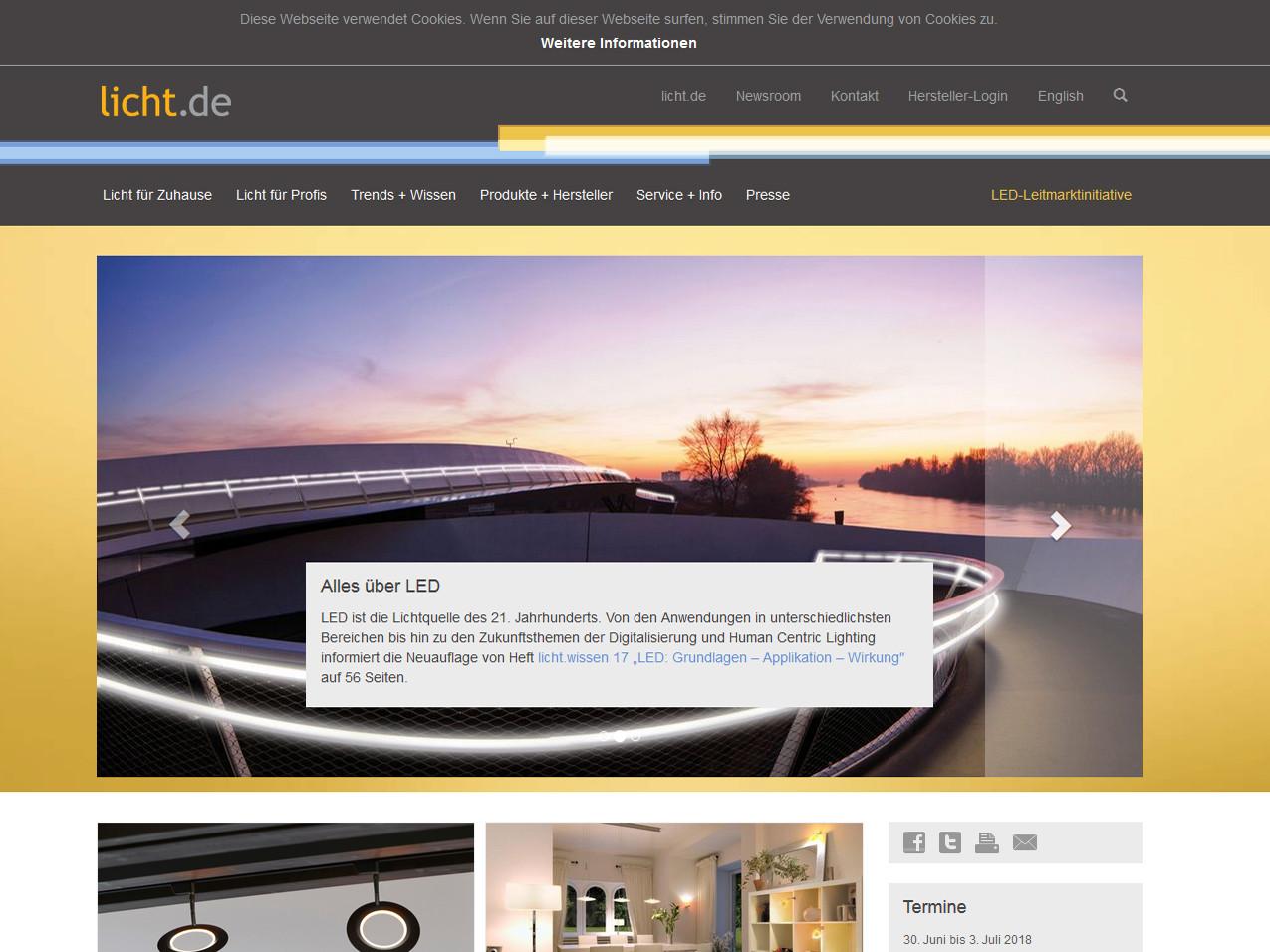 Portal zu Licht und Beleuchtung | Elektro | Linkliste | Baunetz_Wissen