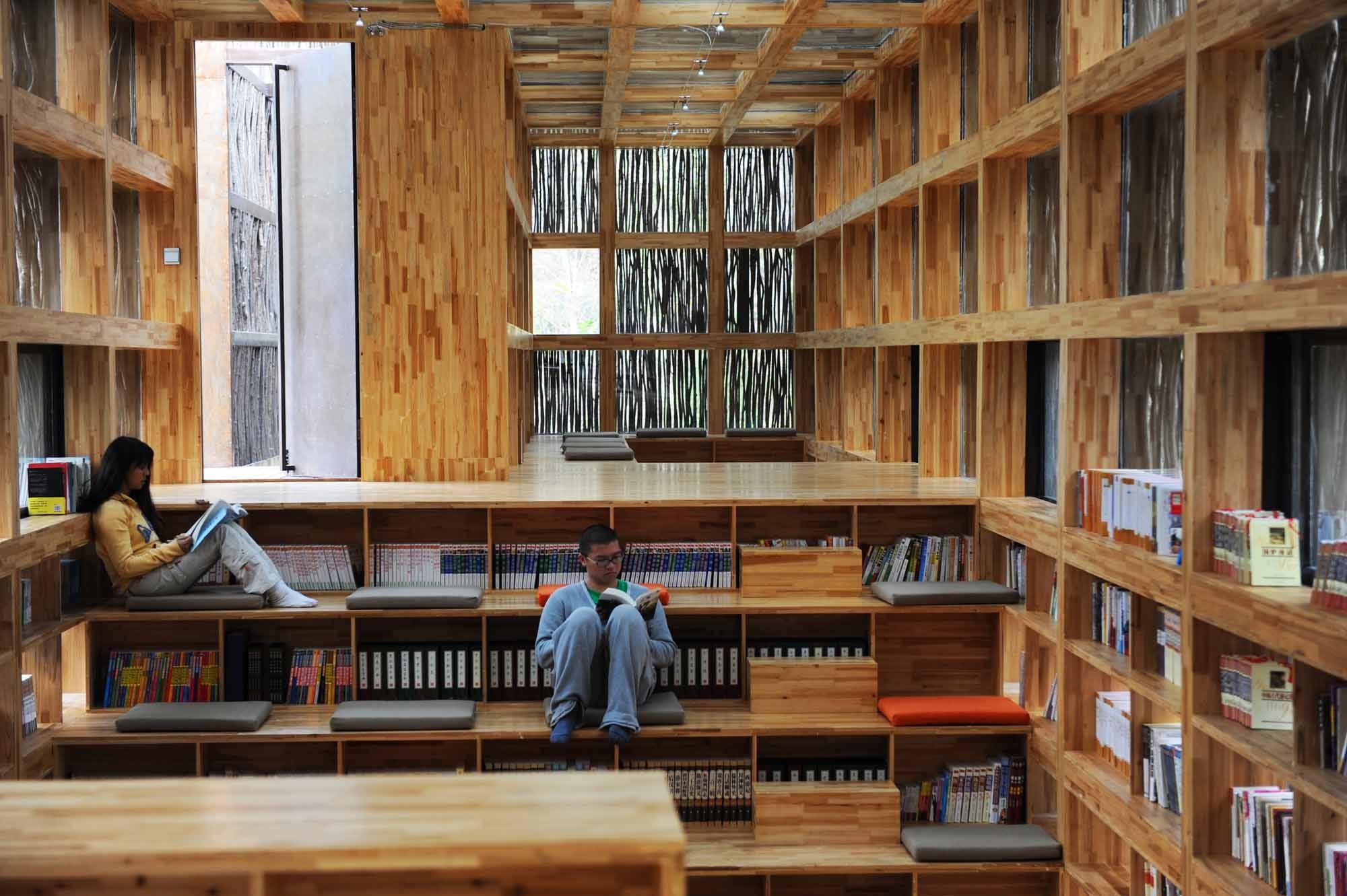 Li yuan bibliothek in jiaojiehe gesund bauen kultur for Innenraum designer programm