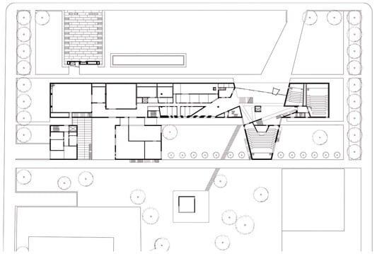 Foyer Museum Grundriss : Ägyptisches museum und filmhochschule in münchen beton