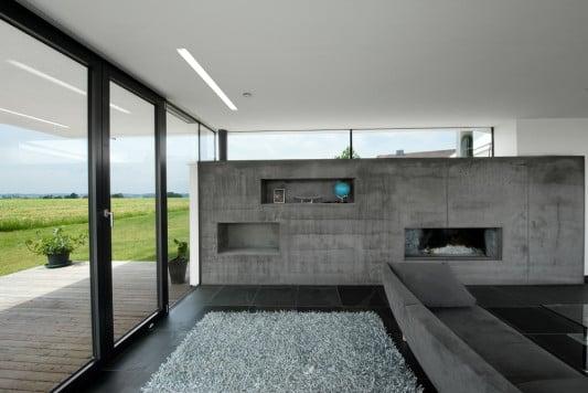 Villa in piberbach schiefer wohnen efh baunetz wissen for Architekten wohnzimmer