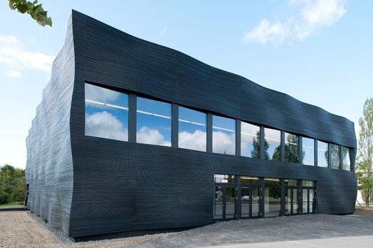 Holzfassade Schwarz interims audimax der tu münchen in garching fassade kultur
