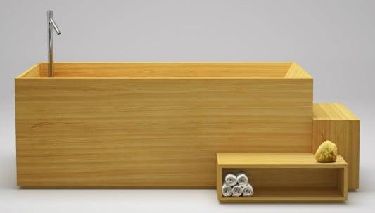 badobjekte aus l rchenholz und stahl bad und sanit r. Black Bedroom Furniture Sets. Home Design Ideas
