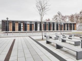 Der Pavillon bildet den östlichen Abschluss auf dem Potsdamer Campus Pappelallee