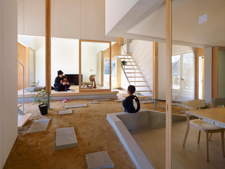 Einfamilienhaus in takaya boden wohnen baunetz wissen for Office design japanese