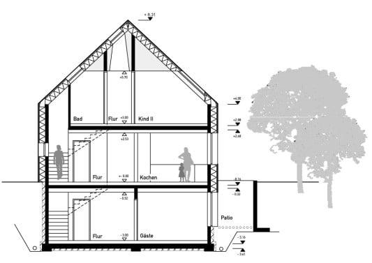 einfamilienhaus in baesweiler geneigtes dach wohnen baunetz wissen. Black Bedroom Furniture Sets. Home Design Ideas