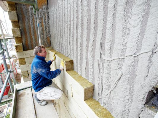 Wdvs aus steinwolle d mmstoffe news produkte archiv baunetz wissen - Innenwand dammen mit steinwolle ...