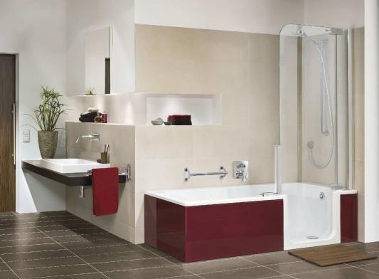 Platzsparender Umbau von Bädern | Altbau | News/Produkte ... | {Badewanne mit dusche und einstieg 98}