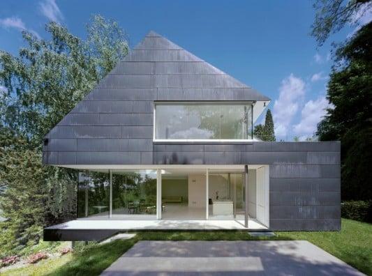 Einfamilienhaus in seeheim jugenheim geneigtes dach for Architektur 4 1