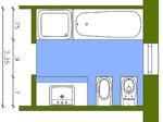 abmessungen von sanit robjekten bad und sanit r planungsgrundlagen. Black Bedroom Furniture Sets. Home Design Ideas