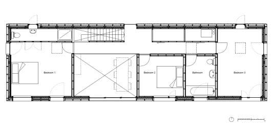 grundriss schmales haus affordable home plan favorit. Black Bedroom Furniture Sets. Home Design Ideas