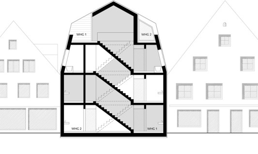 wohnhaus ke12 in memmingen geneigtes dach wohnen. Black Bedroom Furniture Sets. Home Design Ideas