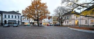 Das Bürgerhauses mit seiner historischen Fassade am Schlossplatz (Nordostansicht)