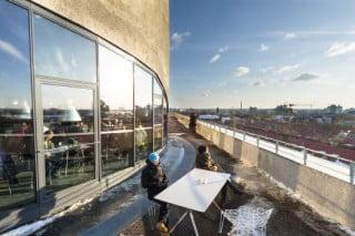 Die neue Terrasse auf 30 Metern Höhe