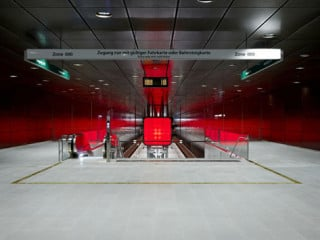 Innerhalb jedes Containers liegen 15 LED-Reihen, die einzeln angesteuert werden können