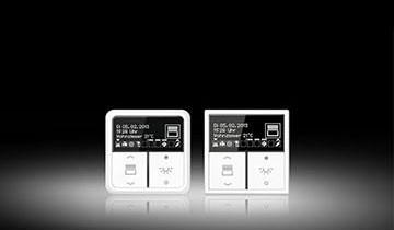 knx raumcontroller mit hochaufl sendem display elektro news produkte archiv baunetz wissen. Black Bedroom Furniture Sets. Home Design Ideas