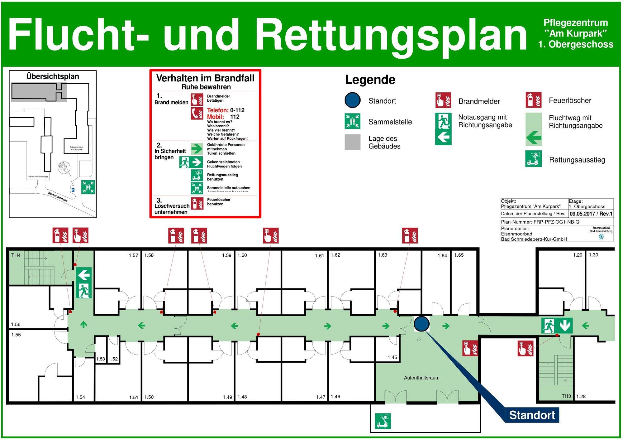 Flucht- und Rettungsplan | Brandschutz | Organisatorischer ...