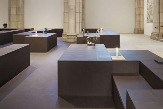 umnutzung der liebfrauenkirche in dortmund zum kolumbarium boden. Black Bedroom Furniture Sets. Home Design Ideas