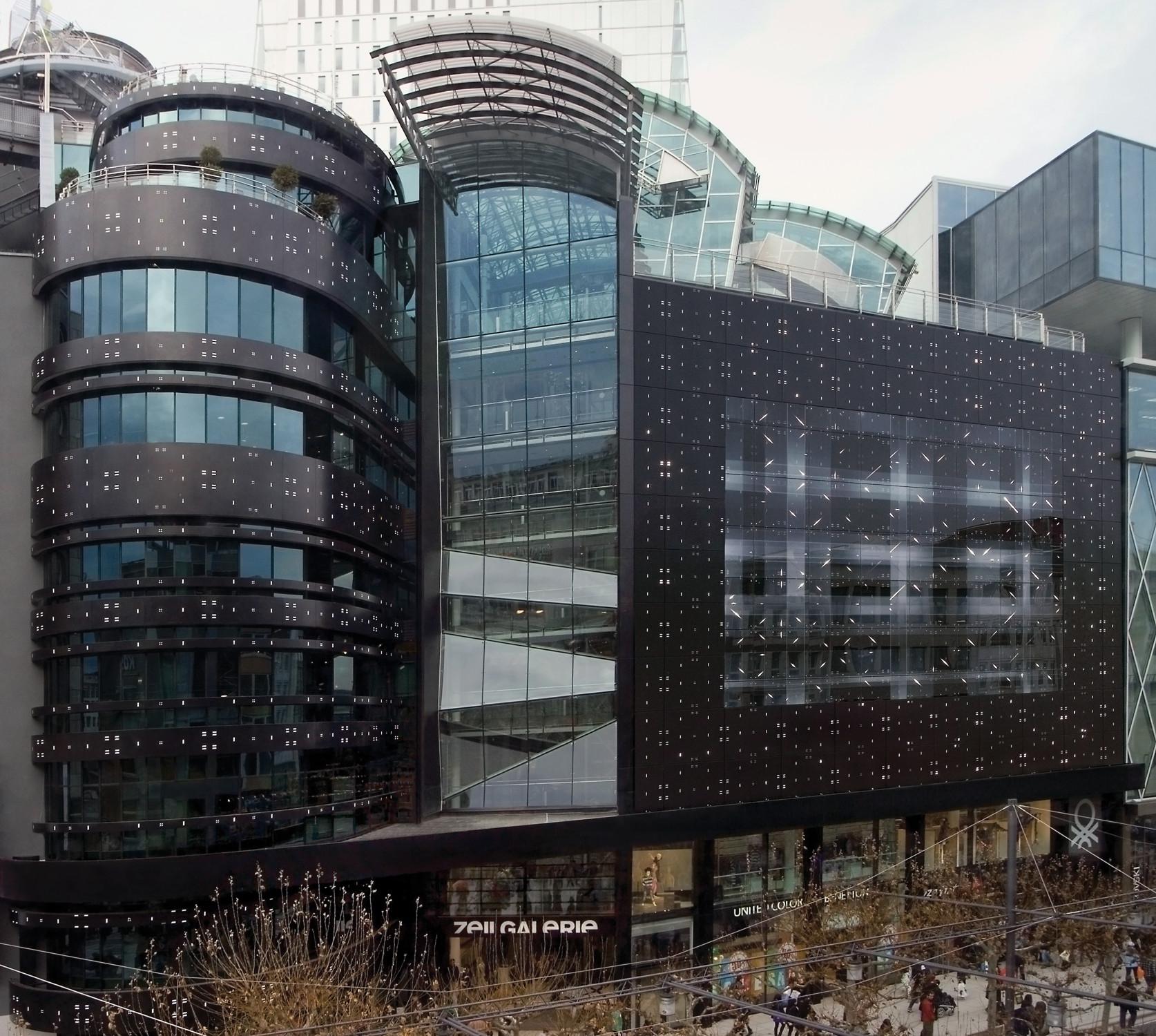 Neugestaltung der zeilgalerie in frankfurt glas for Industrial design frankfurt