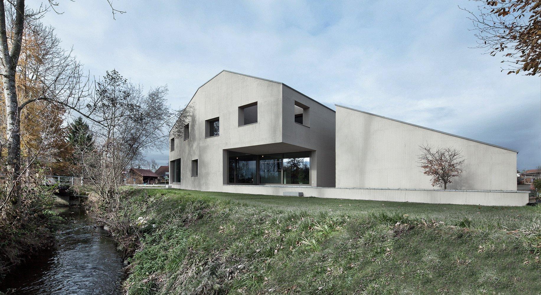 haus am bach in urswil beton wohnen efh baunetz wissen. Black Bedroom Furniture Sets. Home Design Ideas