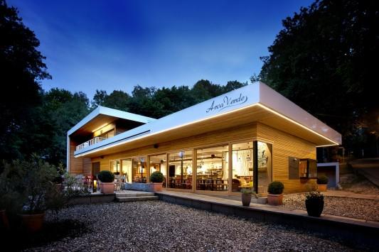 Architekten Reutlingen Umgebung restaurant arca verde in straubing flachdach industrie und