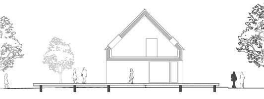haus schnitt zeichnen haus am moor in krumbach gesund bauen wohnen baunetz wissen. Black Bedroom Furniture Sets. Home Design Ideas