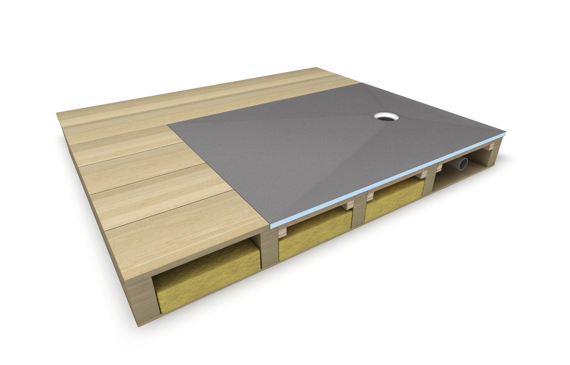 bodengleiches duschelement f r holzbalkendecken bad und. Black Bedroom Furniture Sets. Home Design Ideas