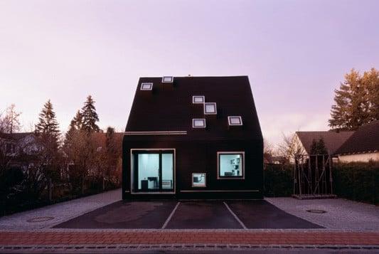 Schwarzes Haus schwarzes haus in krailling geneigtes dach wohnen baunetz wissen