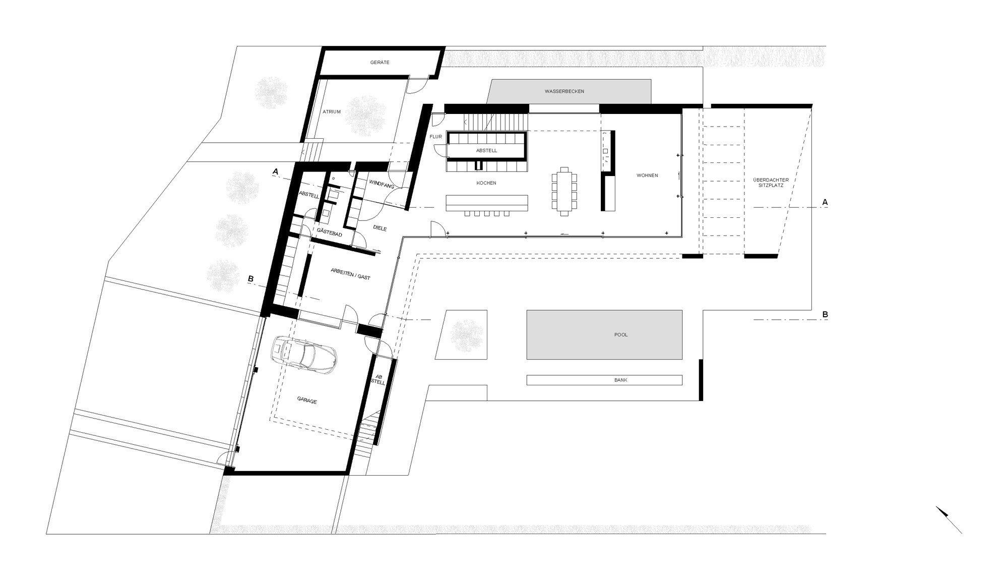 Einfamilienhaus in braunschweig querum beton wohnen for Einfamilienhaus l form