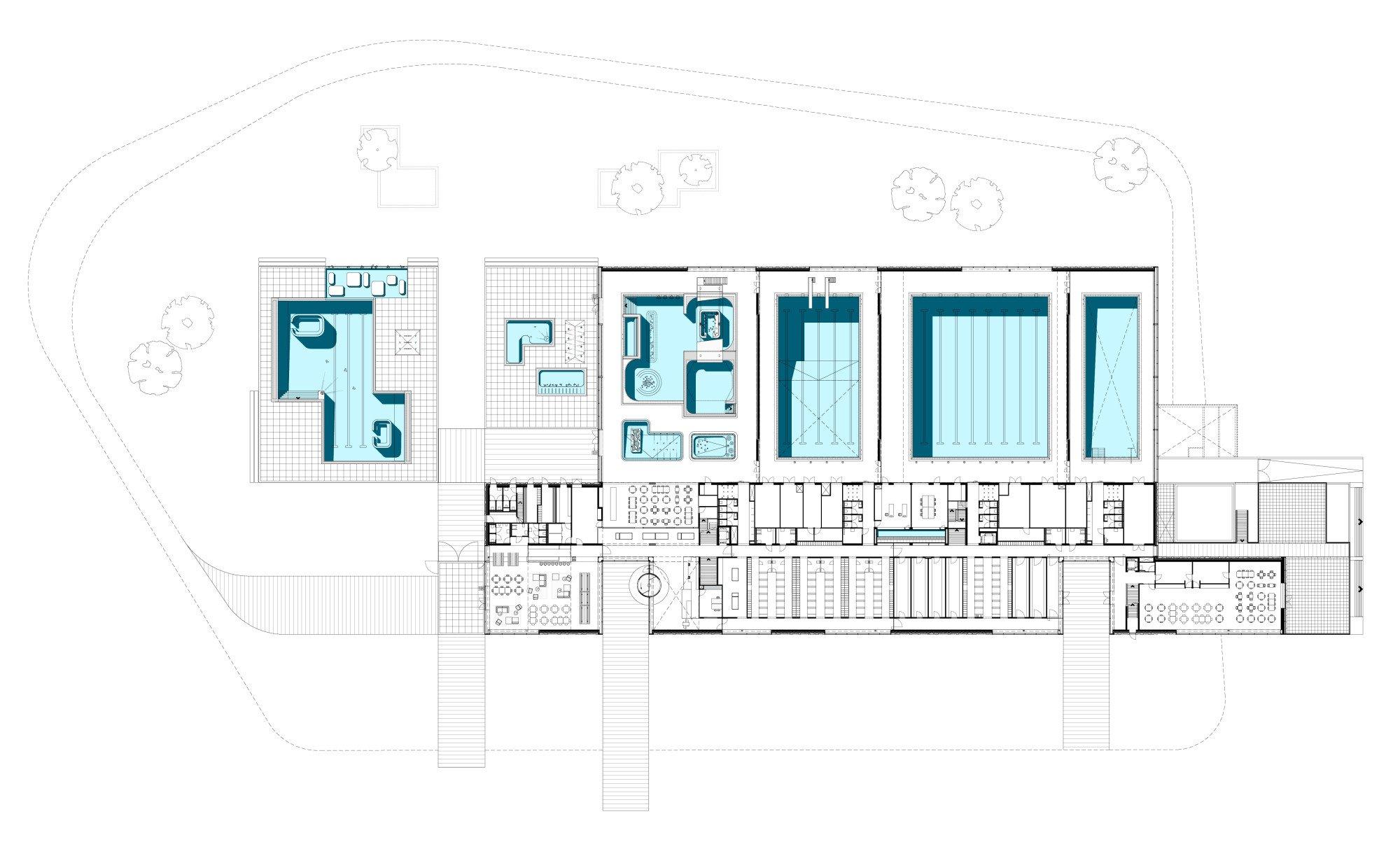 Geusseltbad in maastricht fliesen und platten sport for Swimming pool site plan