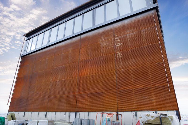 Gewellter Cortenstahl Fassade News Produkte Archiv Baunetz Wissen