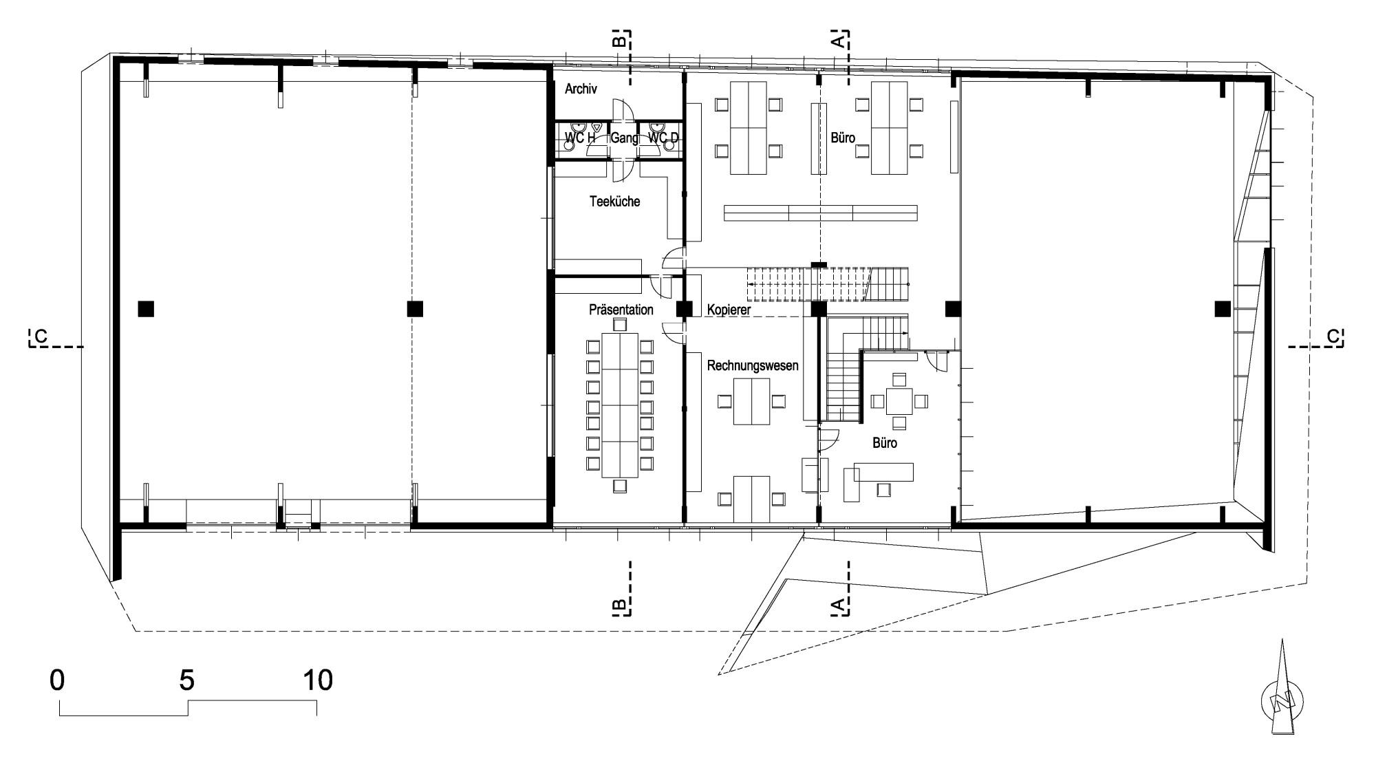 Firmenzentrale Dreier in Völkermarkt | Geneigtes Dach | Büro ... | {Teeküche büro grundriss 24}