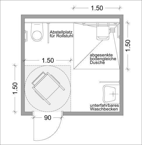 Barrierefreie Badsanierung | Altbau | Sanitär/Elektro | Baunetz_Wissen