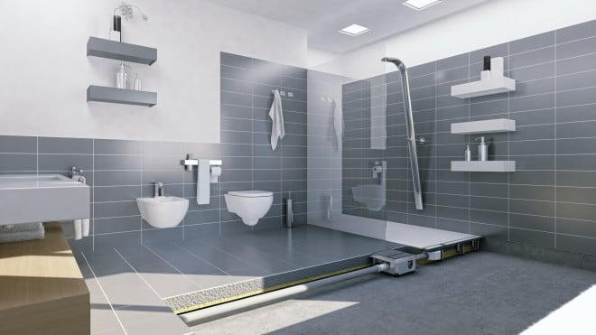 Wandablauf Dusche bodenablaufpumpe für barrierefreie duschen im bestand bad und