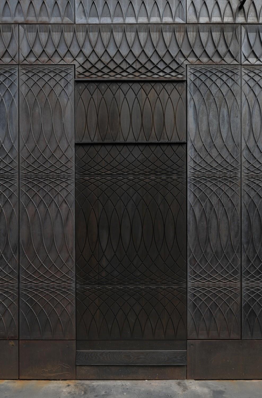 Fassade Aus Gusseisen Mit Filigranem Muster Fassade