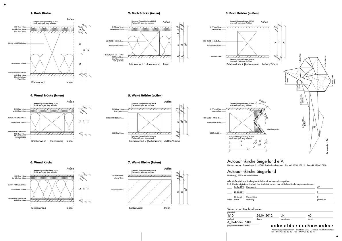 Holzrahmenbau wandaufbau detail  Autobahnkirche Siegerland in Wilnsdorf | Geneigtes Dach | Kultur ...