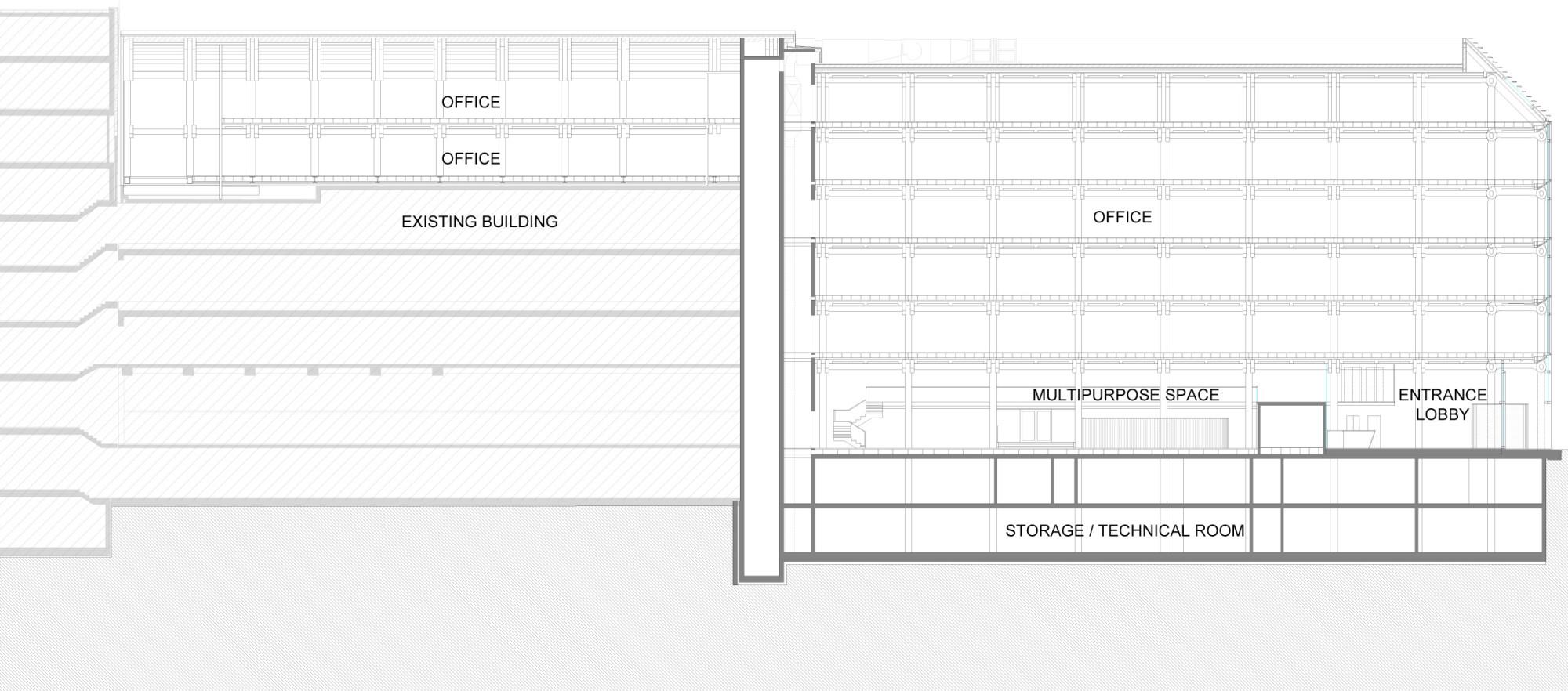 mehrgeschossiger b ro holzbau in z rich geneigtes dach. Black Bedroom Furniture Sets. Home Design Ideas