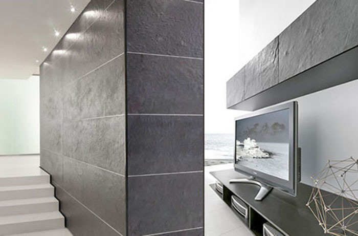 gro formatige platten aus d nnschiefer und kunststoff schiefer news produkte baunetz wissen. Black Bedroom Furniture Sets. Home Design Ideas