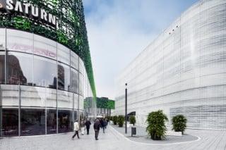Links das Forum Mittelrhein und rechts das Forum Confluentes: Beide wurden zur Revitalisierung des Zentralplatzes in der Koblenzer Innenstadt errichtet