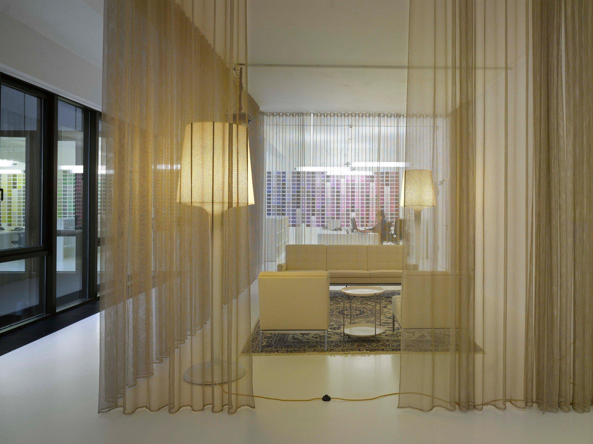 Raumteiler Vorhänge umgestaltung einer banketage zum architekturstudio in hannover akustik büro gewerbe